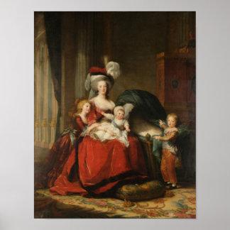 Marie Antoinette & Children Le Brun Fine Art Poster