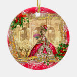 Marie Antoinette Christmas at Versailles Double-Sided Ceramic Round Christmas Ornament