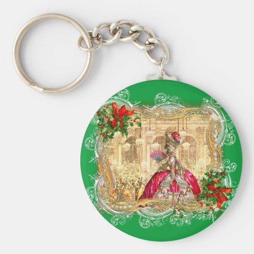 Marie Antoinette Christmas Ball Key Chains