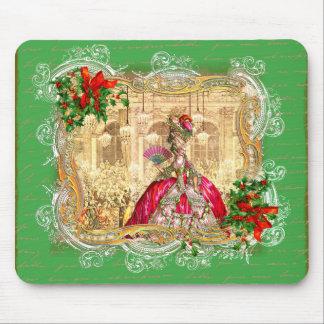 Marie Antoinette Christmas Ball Mouse Pad