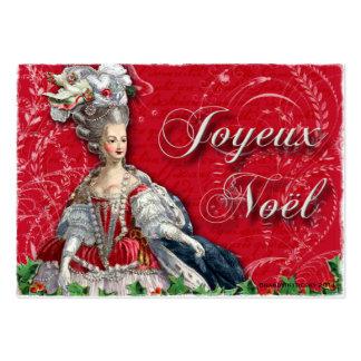 Marie Antoinette Christmas Noel Business Cards