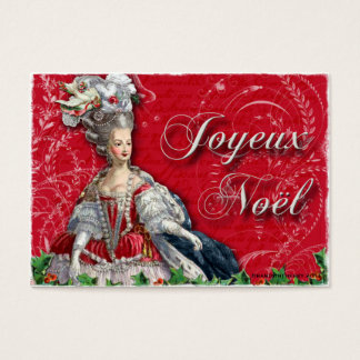 Marie Antoinette Christmas Noel Business Cards