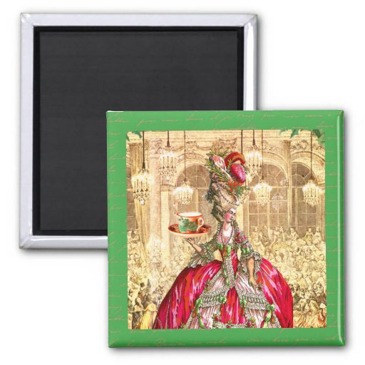 Marie Antoinette Christmas Party Versailles Magnet