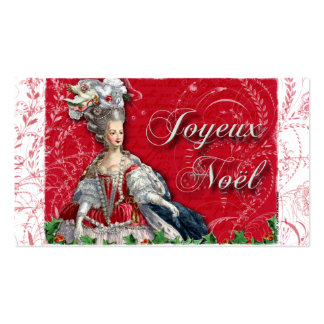 Marie Antoinette Christmas Toile Business Cards