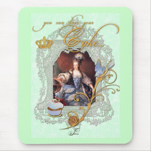 Marie Antoinette Cupcake and Bluebird Mouse Pad