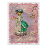 Marie Antoinette Cupcake & Bird Poster Print