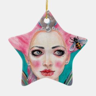 Marie Antoinette Cupcake Faerie - Queen Bee deco Christmas Tree Ornaments