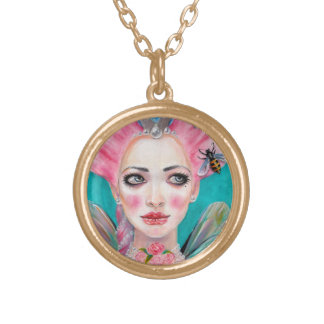 Marie Antoinette Cupcake Faerie - Queen Bee Gold Plated Necklace