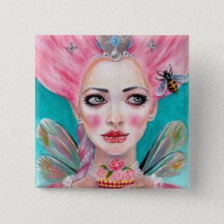 Marie Antoinette Cupcake Faerie - Queen Bee Pinback Button