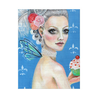 Marie Antoinette Cupcake Queen let them eat cupcak Gallery Wrapped Canvas