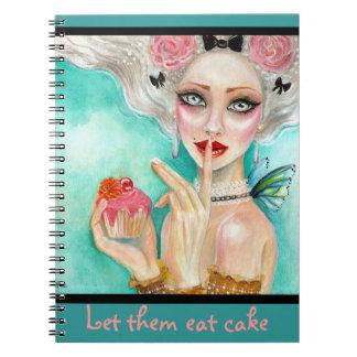 Marie Antoinette Cupcake Queen Notebook