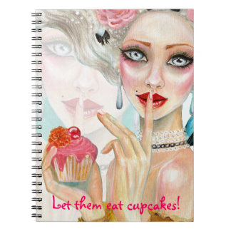 Marie Antoinette Cupcake Queen Notepad Note Books