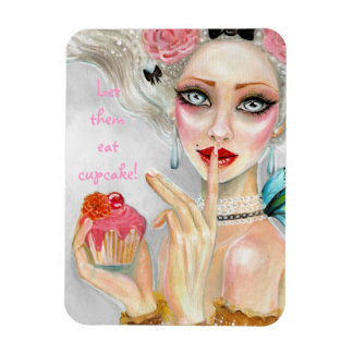 Marie Antoinette Cupcake Queen Rectangular Photo Magnet