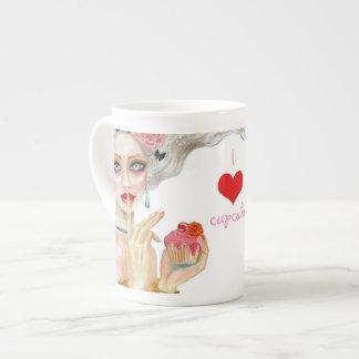 Marie Antoinette Cupcake Queen Tea Cup