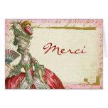 Marie Antoinette Custom Thank You Merci Note Cards