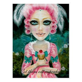 Marie Antoinette dans le jardin Postcard