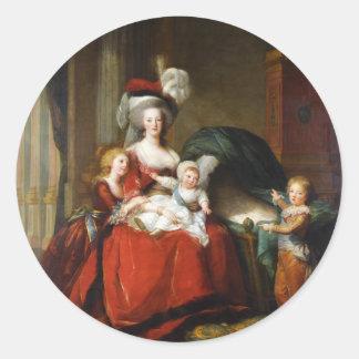 Marie-Antoinette de Lorraine-Habsbourg Classic Round Sticker