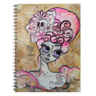 Marie Antoinette, Dia de los Muertos Spiral Notebook