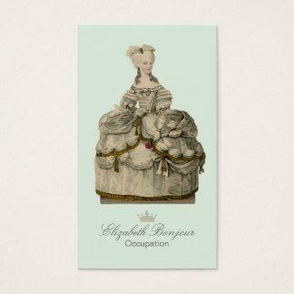 Marie Antoinette Dress ~ Business Card