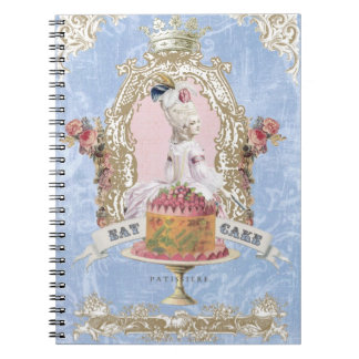 Marie Antoinette-Eat Cake...notebook Spiral Notebook