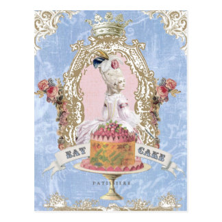 Marie Antoinette-Eat Cake postcard