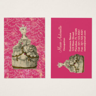 Marie Antoinette Extravagant Dress ~ Business Card