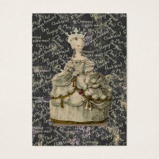 Marie Antoinette Extravagant Dress ~ Business Card