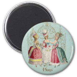 Marie Antoinette French Paris Ladies 2 Inch Round Magnet