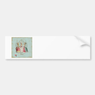 Marie Antoinette French Paris Ladies Bumper Sticker