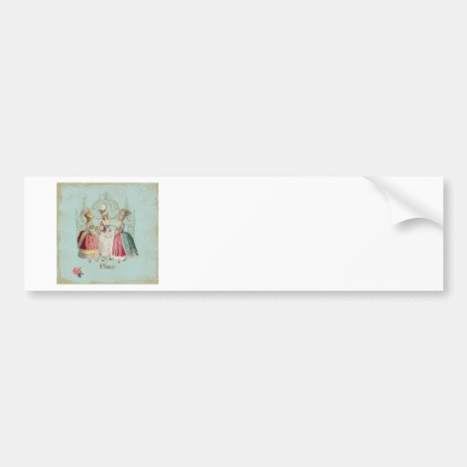 Marie Antoinette French Paris Ladies Bumper Stickers