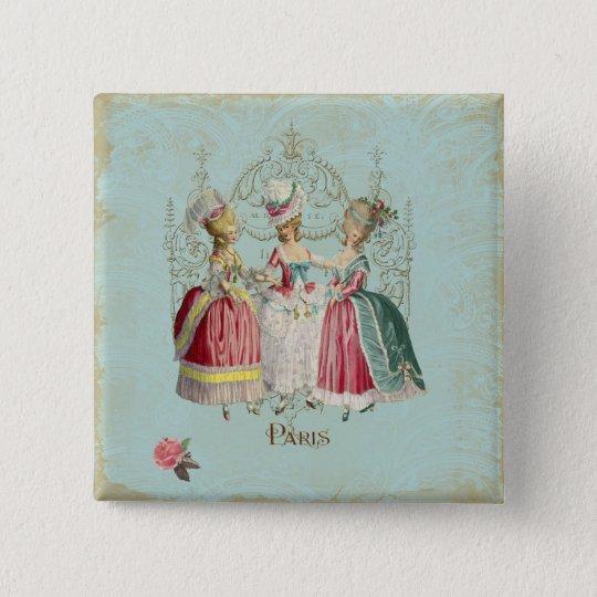 Marie Antoinette French Paris Ladies Button