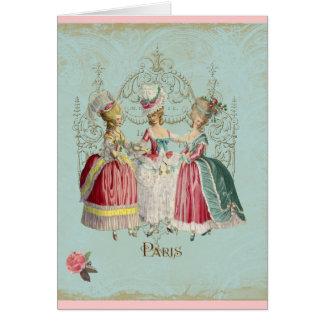 Marie Antoinette French Paris Ladies Greeting Cards