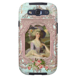Marie Antoinette French Pink Ornate Portrait Samsung Galaxy SIII Cases
