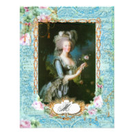 Marie Antoinette French Stationery and Cards Personalized Invitation