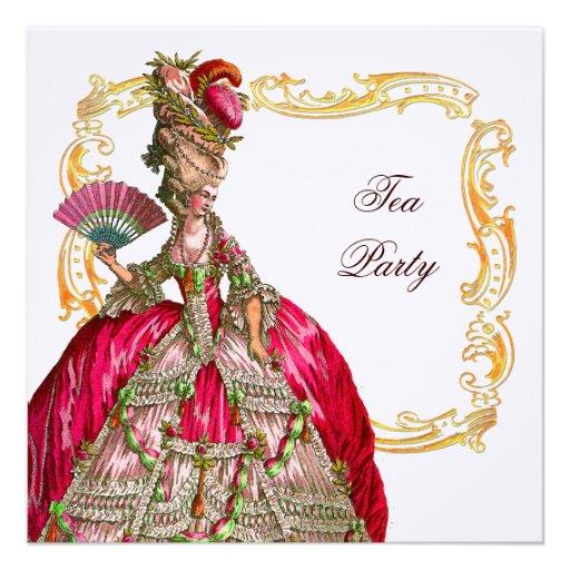 Marie Antoinette & Gold Frame Invites