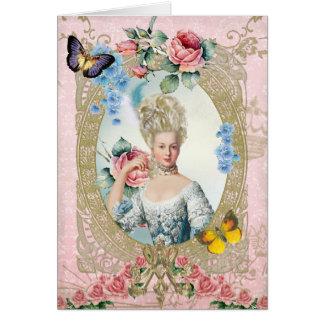 Marie Antoinette Greeting Card Rose of Versailles