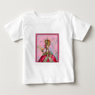 Marie Antoinette Hot Pink & Peacock Baby T-Shirt