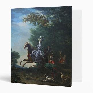 Marie Antoinette Hunting by Louis Auguste Brun Binder