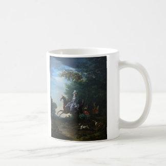 Marie Antoinette Hunting by Louis Auguste Brun Coffee Mug