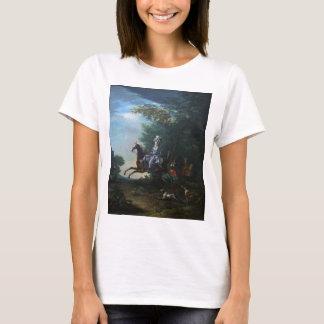 Marie Antoinette Hunting by Louis Auguste Brun T-Shirt