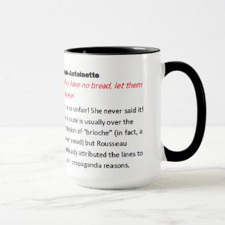 Marie Antoinette illustrated Misquotation Mug