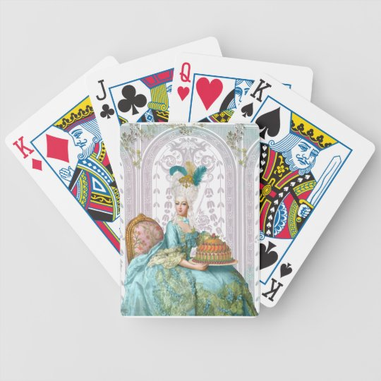 Marie Antoinette in Aqua Bicycle Playing Cards