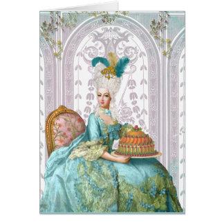Marie Antoinette in Aqua Greeting Card