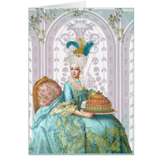 Marie Antoinette in Aqua Card