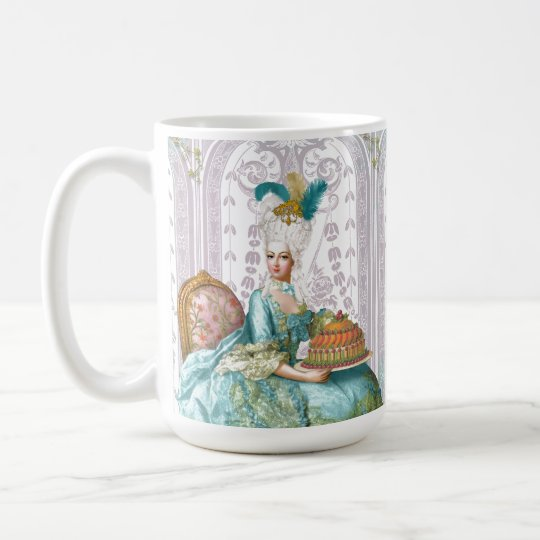Marie Antoinette in Aqua Coffee Mug