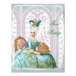 Marie Antoinette in Aqua 4.25x5.5 Paper Invitation Card