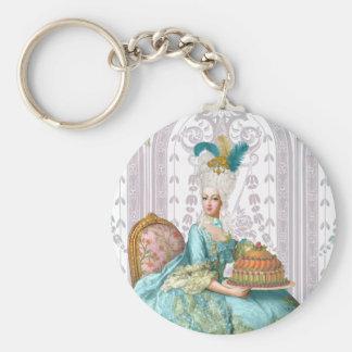 Marie Antoinette in Aqua Basic Round Button Keychain