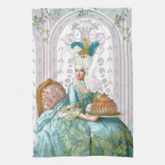 Marie Antoinette in Aqua Kitchen Towel