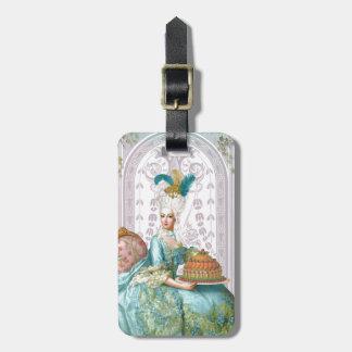 Marie Antoinette in Aqua Luggage Tag