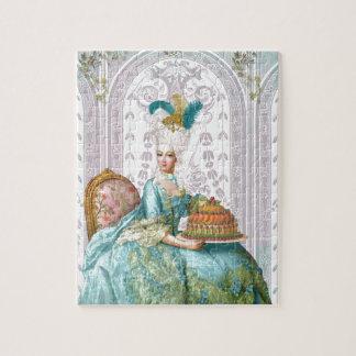 Marie Antoinette in Aqua Jigsaw Puzzles